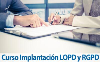 Curso de Implantación LOPD y RGDP